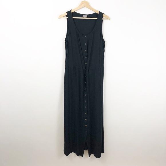 J. Jill Dresses & Skirts - J. Jill Black Button Front Maxi Midi Dress Medium
